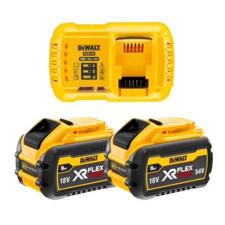 Kit baterias Dewalt Flexvolt 9ah con cargador dcb118