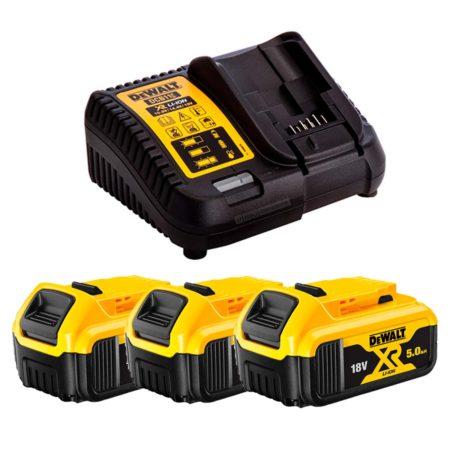 Dewalt baterias 18V pack 5 ah con caegadr